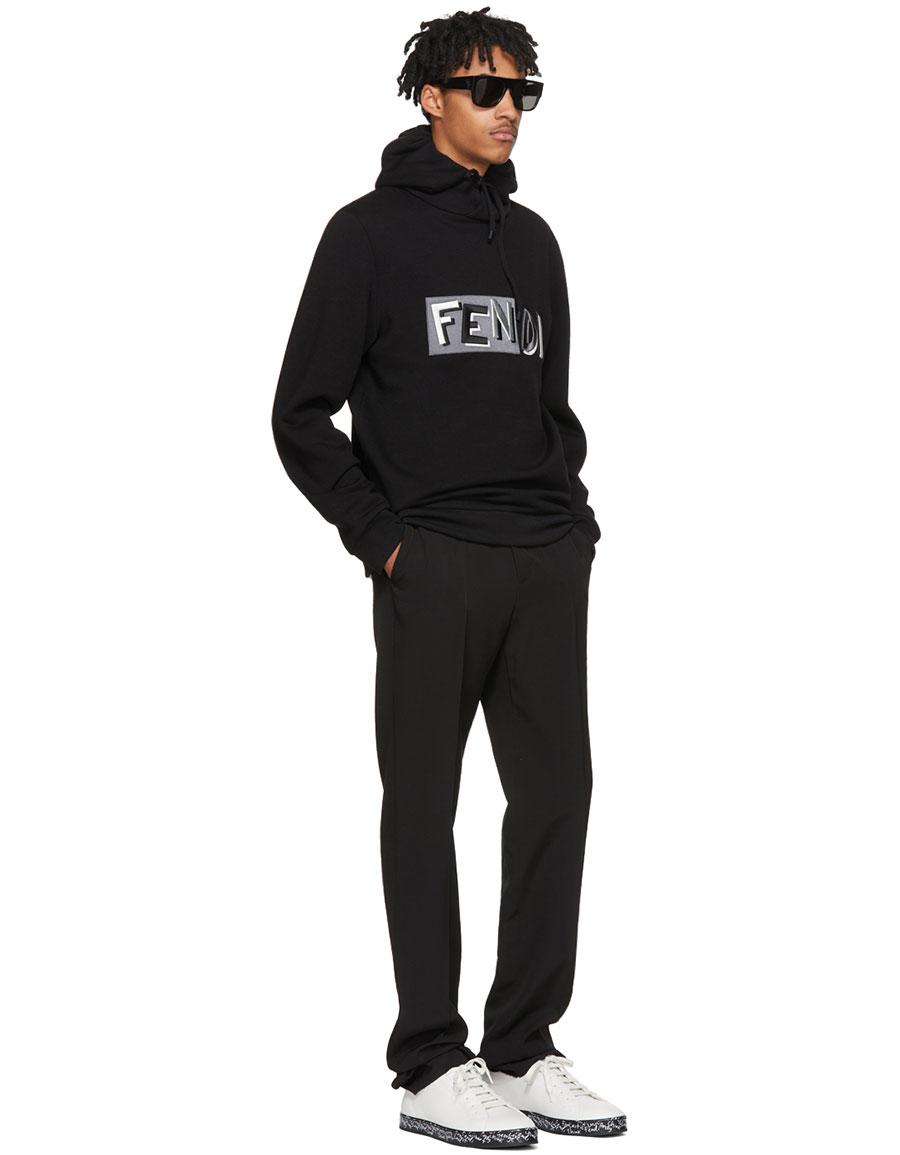 FENDI Black 'Fendi Vocabulary' Hoodie