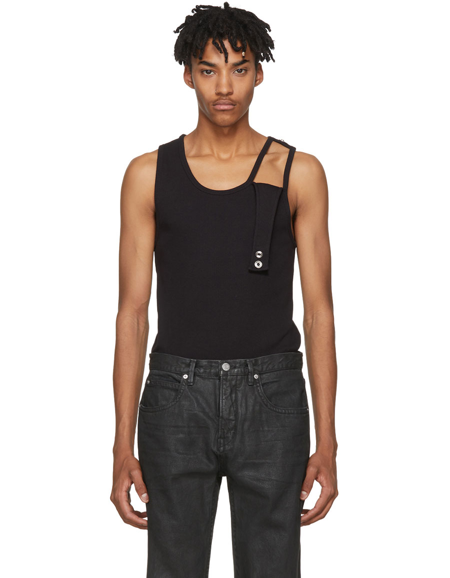 6296005e5a015 HELMUT LANG Black Reveal Tank Top · VERGLE