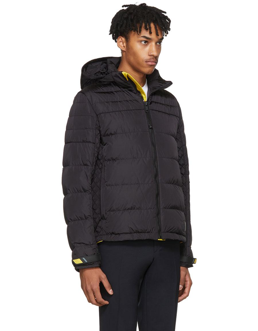 PRADA Black & Yellow Down Lightweight Puffer Jacket