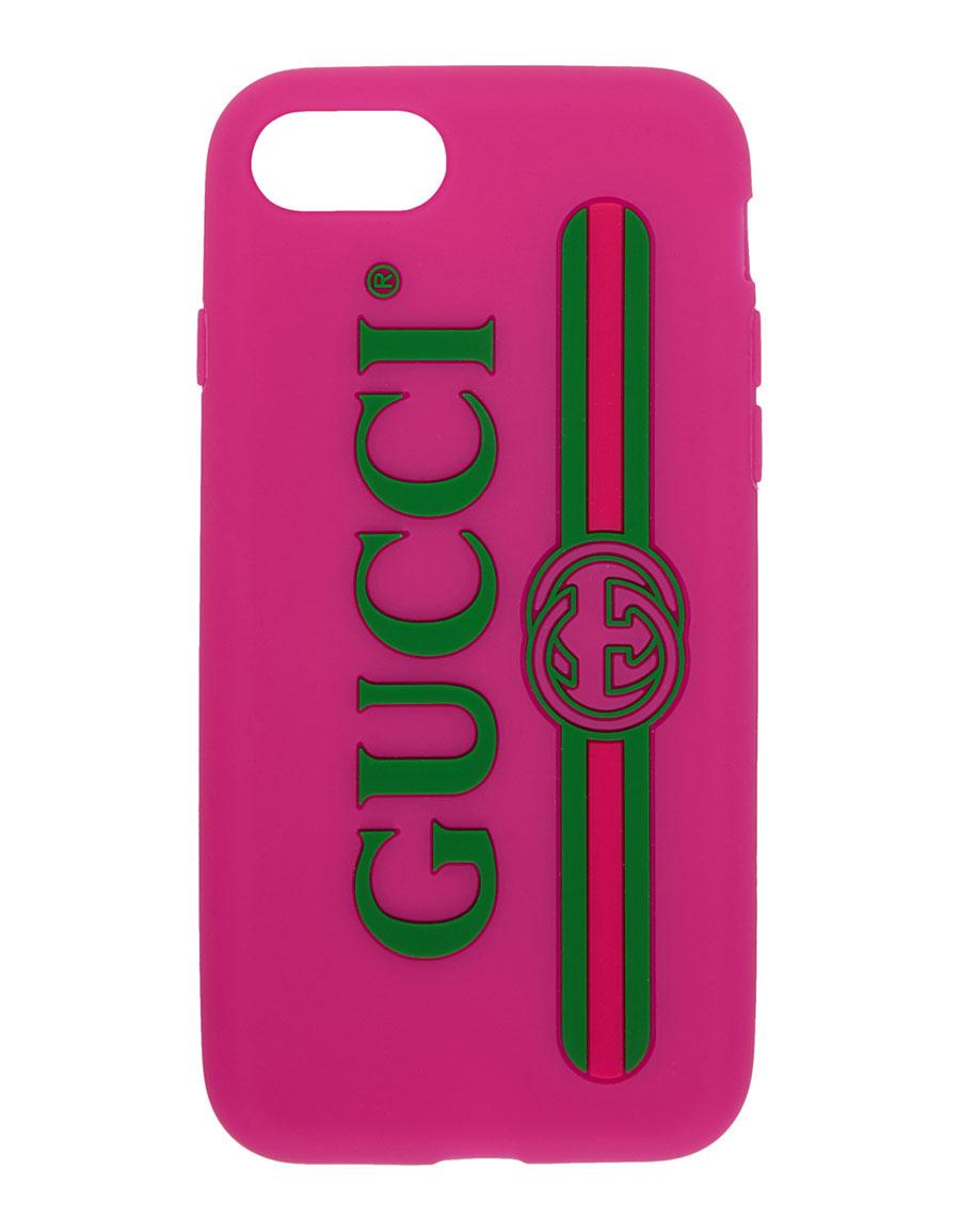 innovative design c241c 4c3b6 GUCCI Pink Vintage Logo iPhone 7 Case · VERGLE
