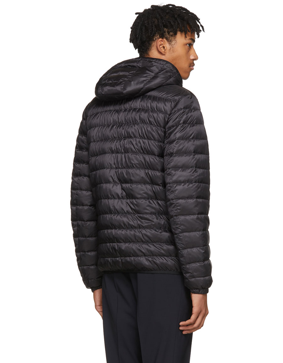 PRADA Black Lightweight Down Puffer Jacket
