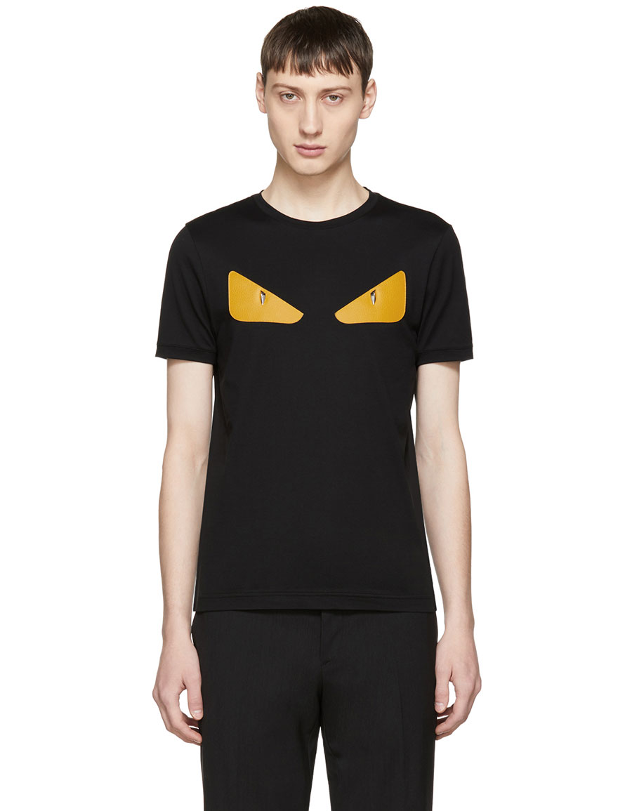 d944b00bc FENDI Black & Orange 'Bag Bugs' T-Shirt · VERGLE