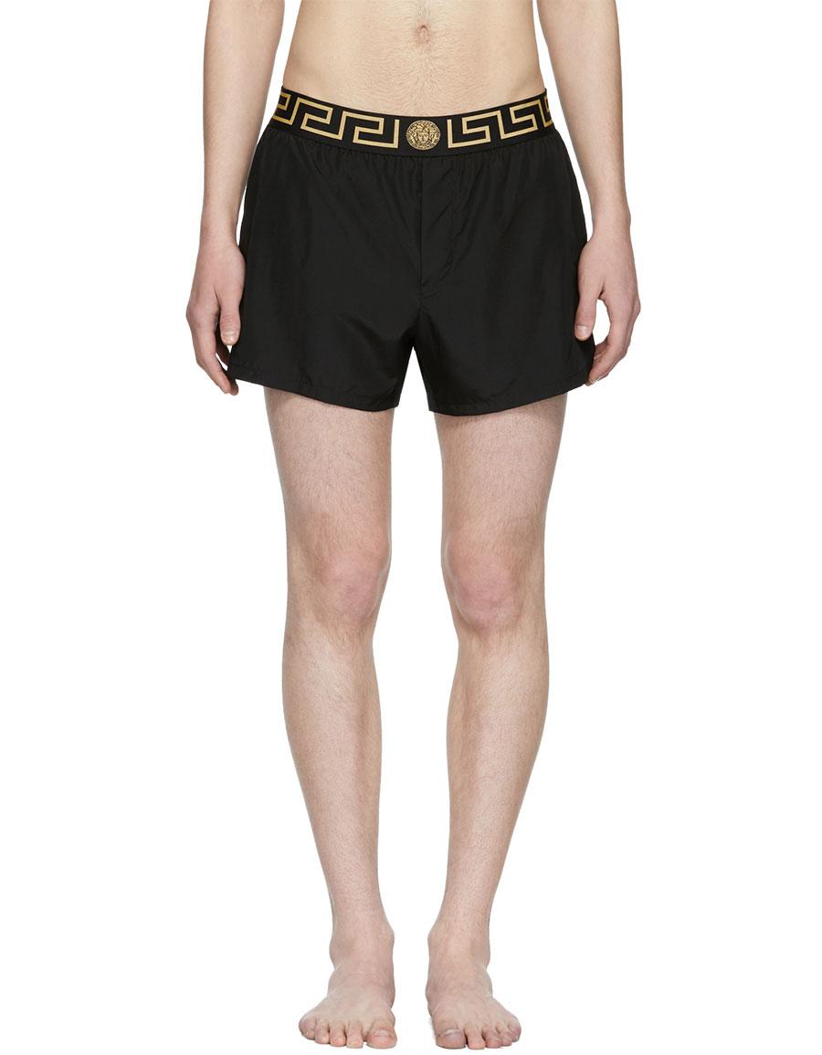 f5ca040cdc VERSACE Black Greek Key Medusa Swim Shorts · VERGLE