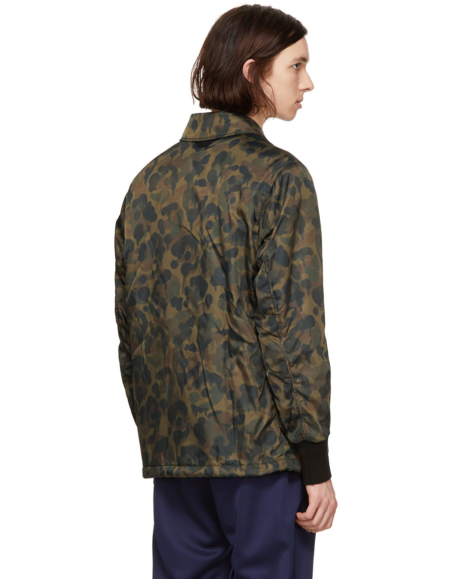 COACH 1941 Green Camo Wild Beast Coach Jacket