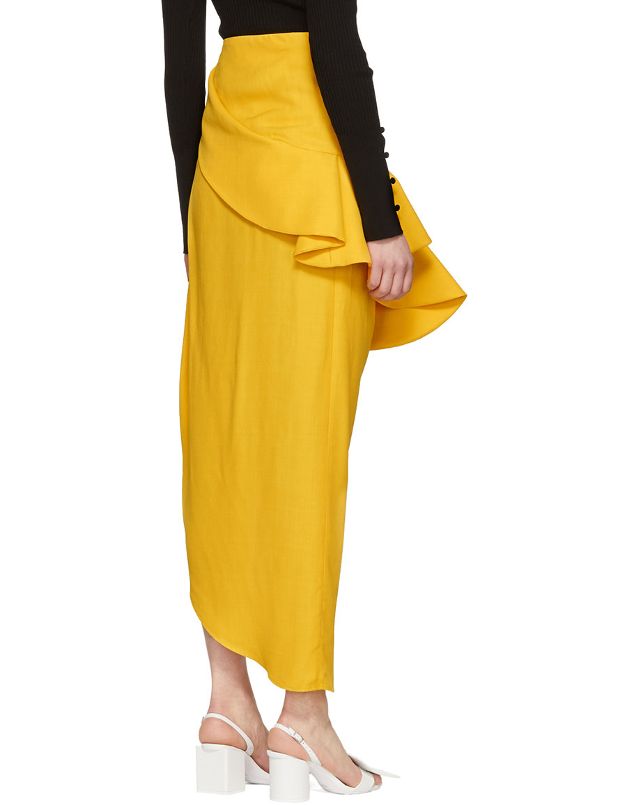 JACQUEMUS Yellow 'La Jupe Sol' Skirt