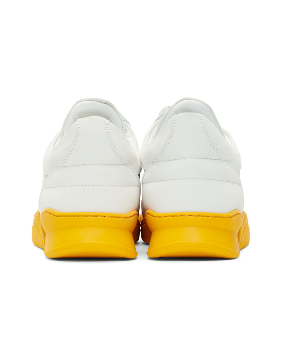 FILLING PIECES White & Yellow Low Ghost Sneakers