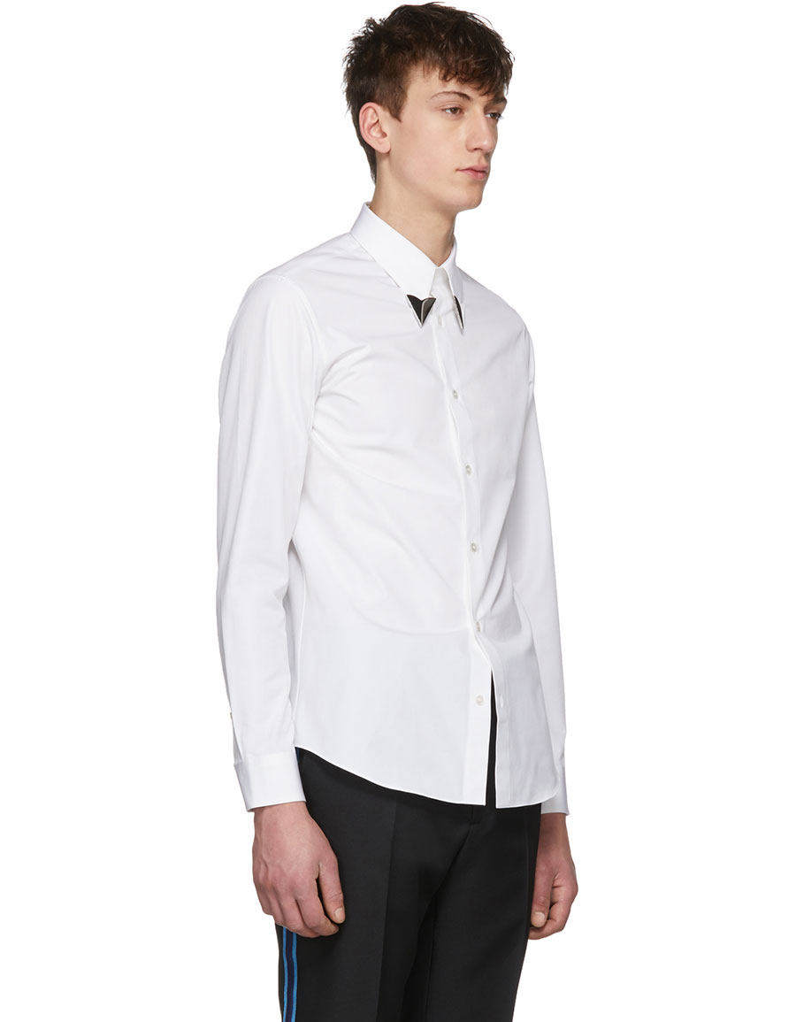 CALVIN KLEIN White Pointed Collar Shirt