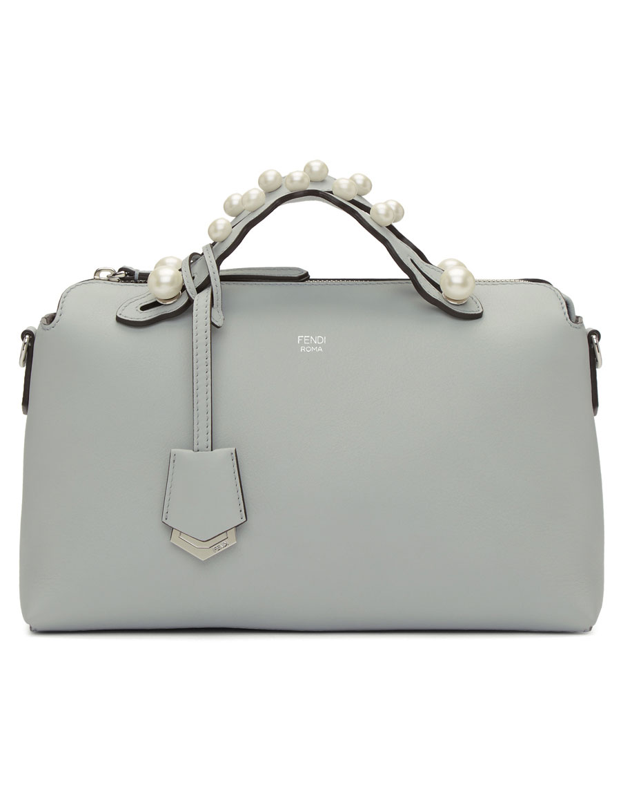 d57775d3a5 sale fendi grey medium pearl by the way bag 204b4 856e5