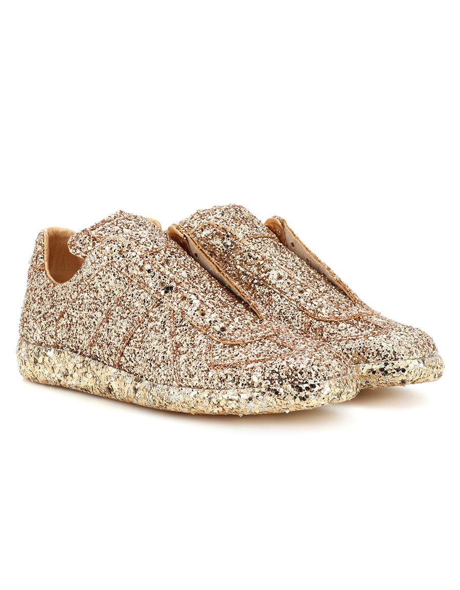 MAISON MARGIELA Glittered slip on sneakers