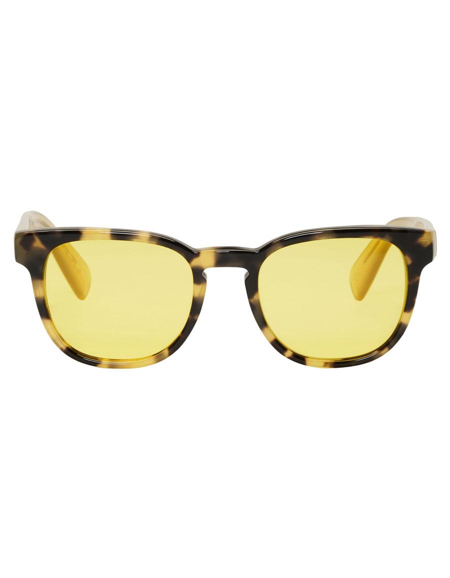 PAUL SMITH Tortoiseshell & Yellow Hadrian Sunglasses