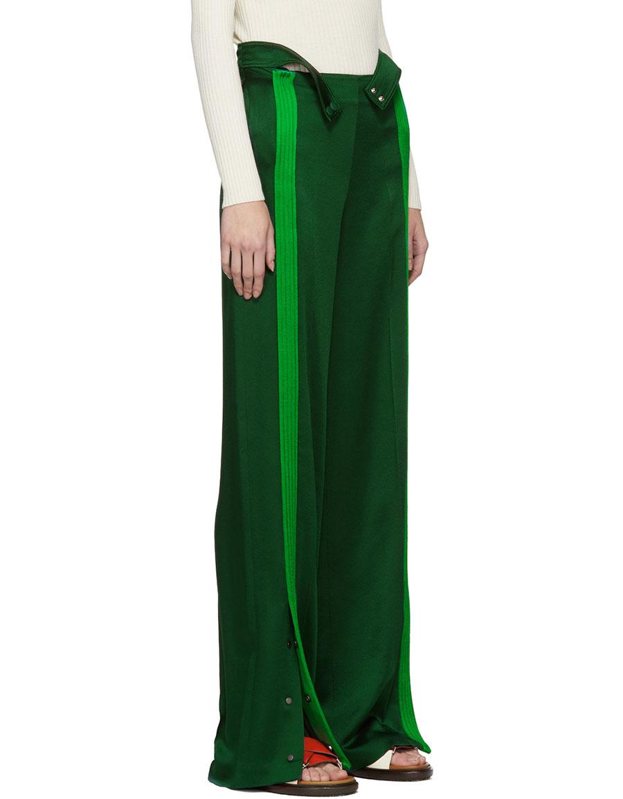 VALENTINO Green Crepe Lounge Pants