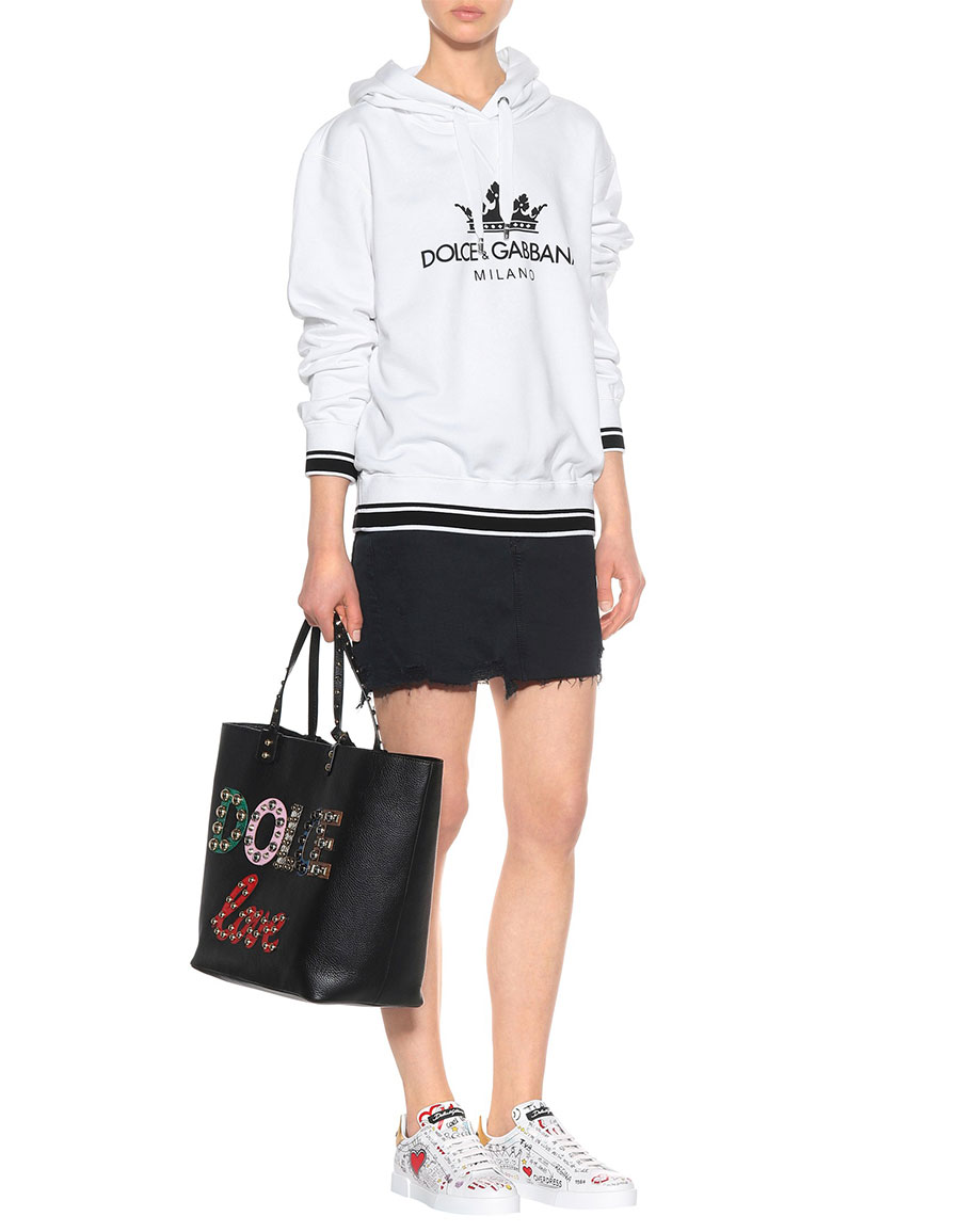 DOLCE & GABBANA Doodle leather sneakers