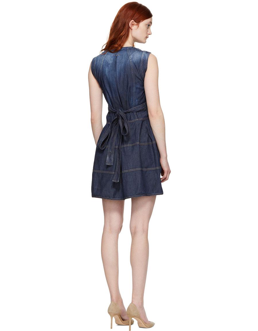 DSQUARED2 Blue Panelled Strap Dress