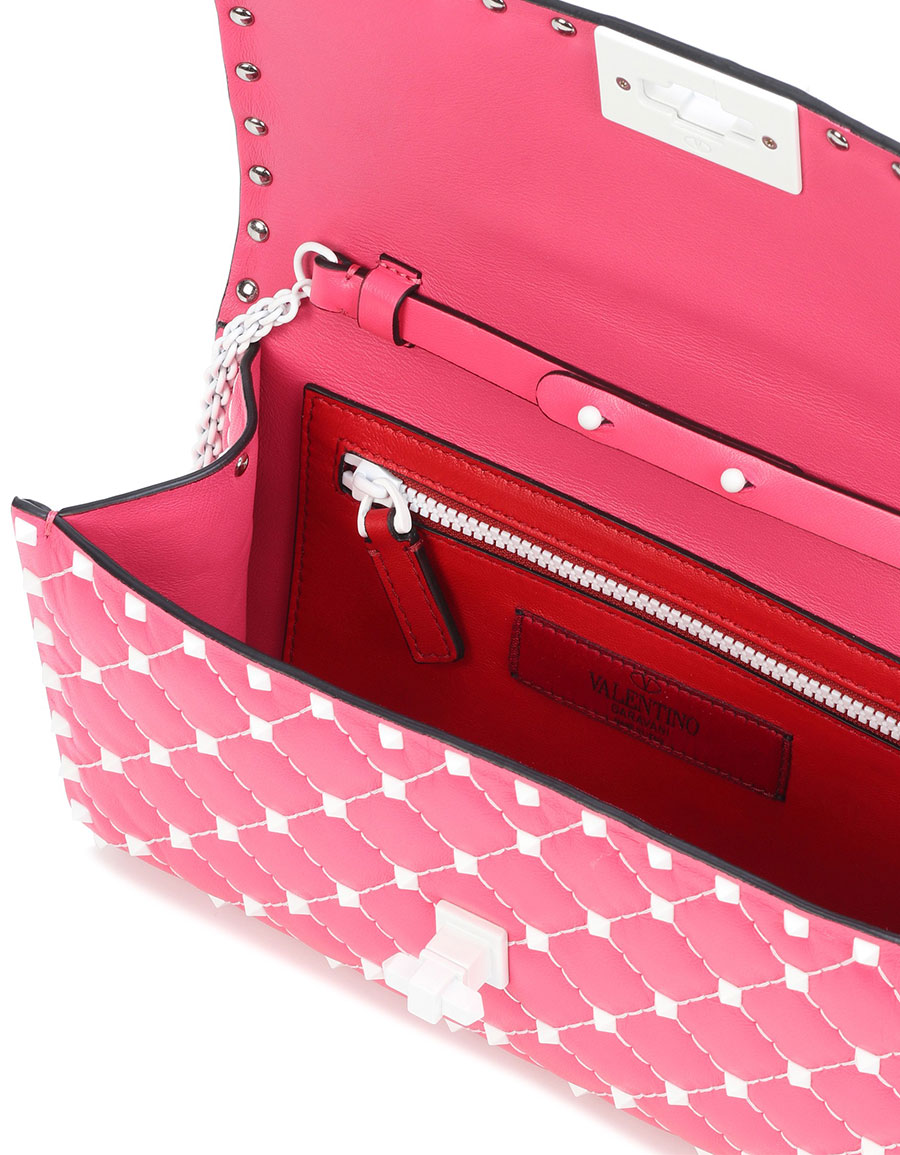 VALENTINO Valentino Garavani Free Rockstud Spike leather shoulder bag