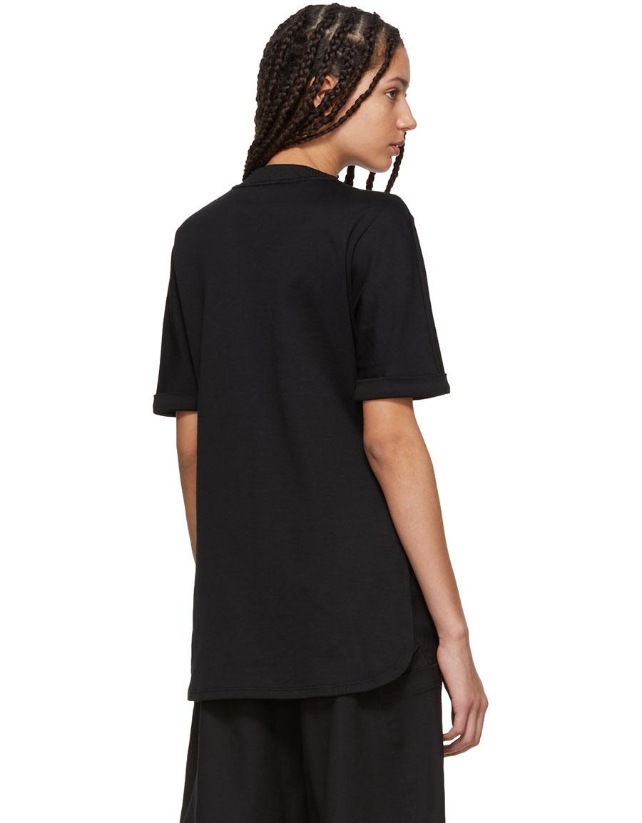FENDI Black Stones Logo T Shirt