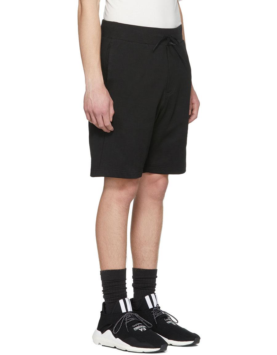 Y 3 Black Classic Logo Shorts