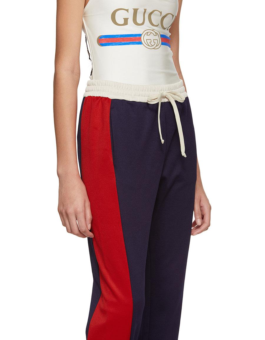 GUCCI Blue Stripe Track Pants