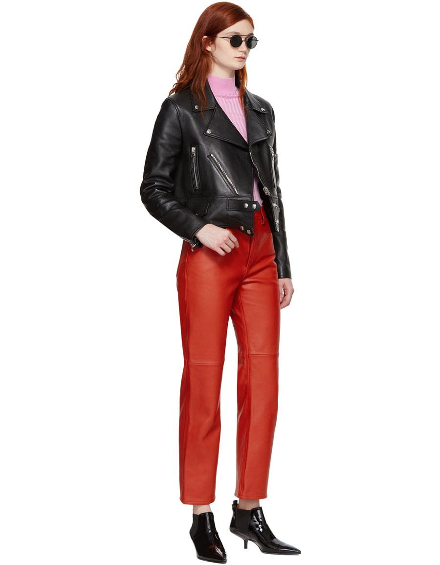 ACNE STUDIOS Red Nappa Myrja Trousers