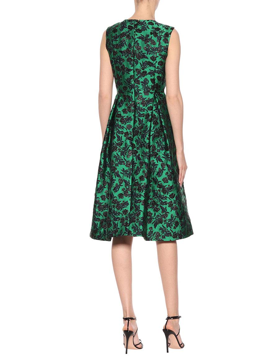 ERDEM Indra floral brocade dress