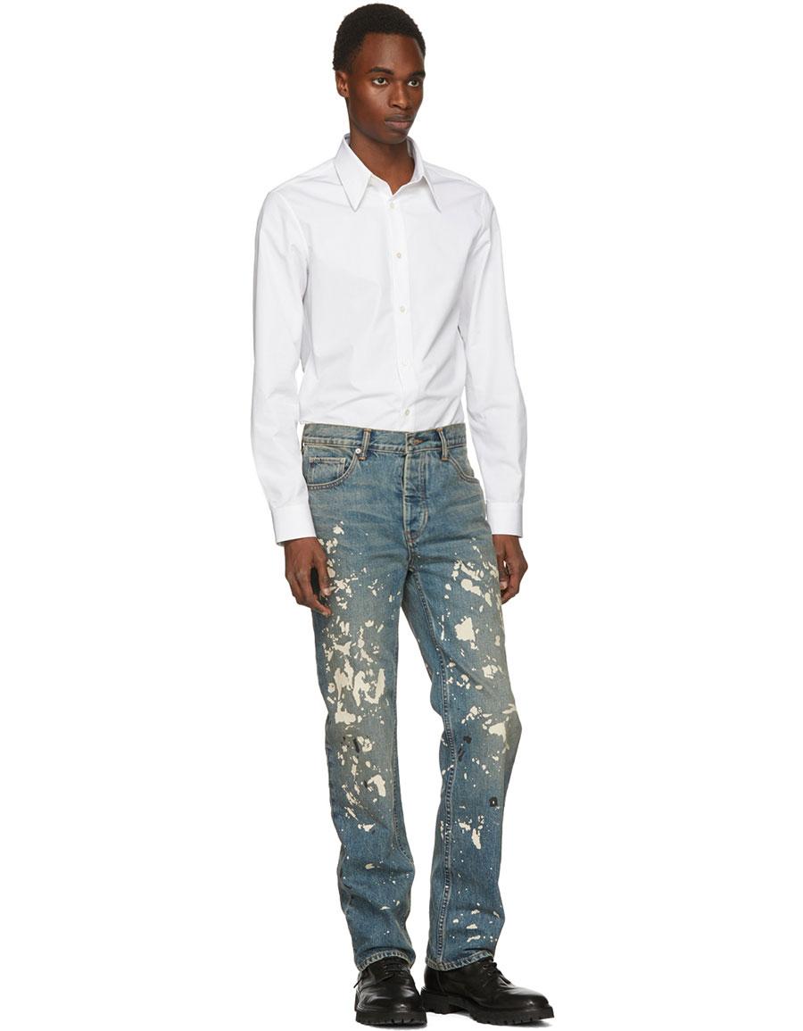 HELMUT LANG Blue Re Edition Painter Jeans