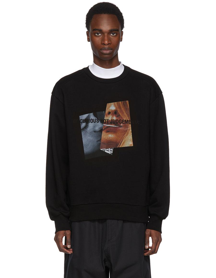 JUUN.J Black 'Be Curious Not Judgemental' Sweatshirt