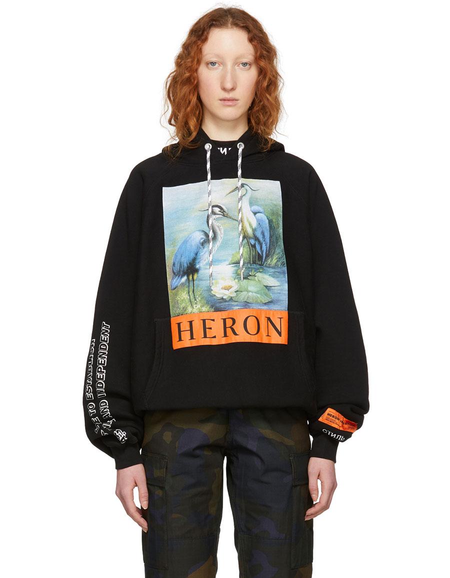 HERON PRESTON Black KK Herons Raglan Hoodie
