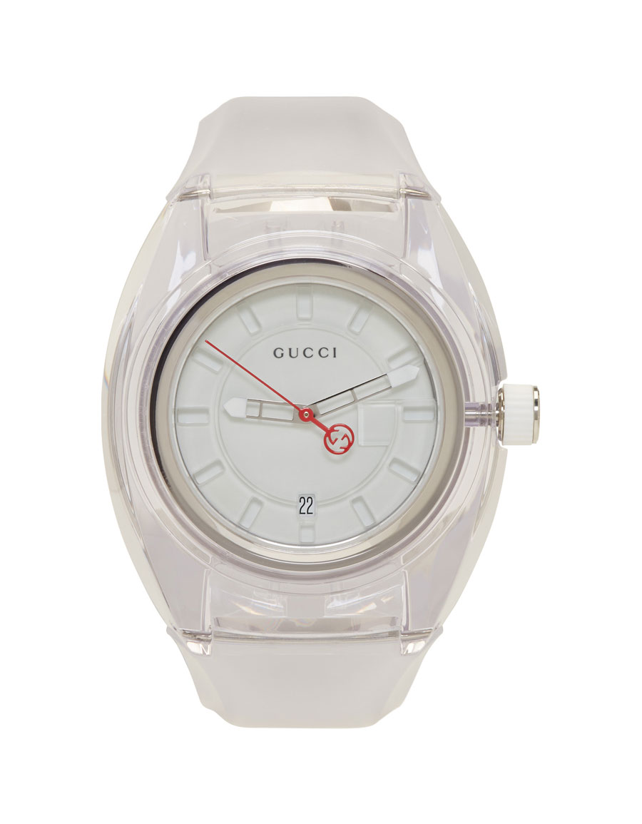 11cc3fb9ea1 GUCCI White Transparent G Sync Watch · VERGLE