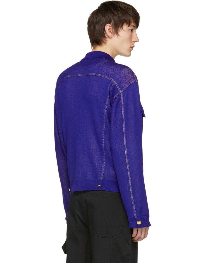 LANDLORD Blue 'Denim Jacket' Cardigan