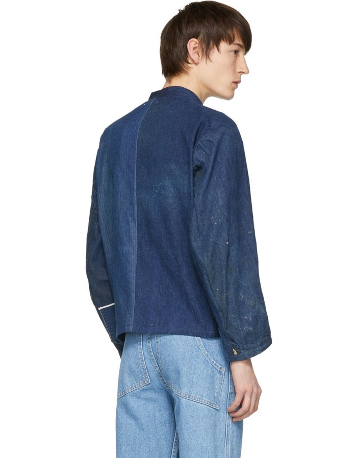 B SIDES Indigo Denim Apron Jacket