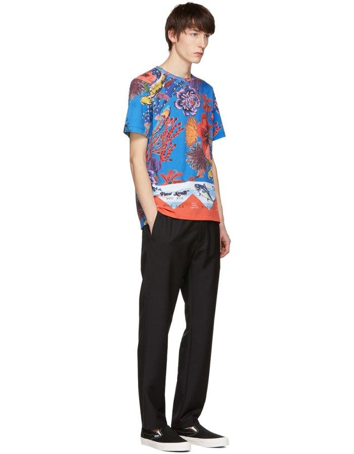 PAUL SMITH Blue Hawaiian T Shirt