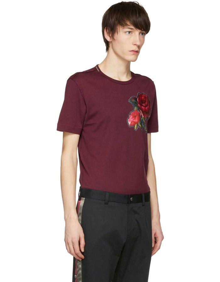 DOLCE & GABBANA Red Flower T Shirt