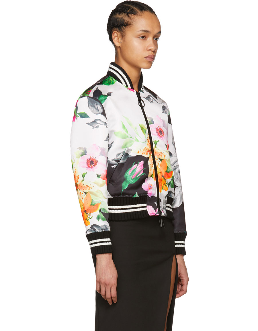 OFF WHITE Multicolor Duchesse Varsity Jacket