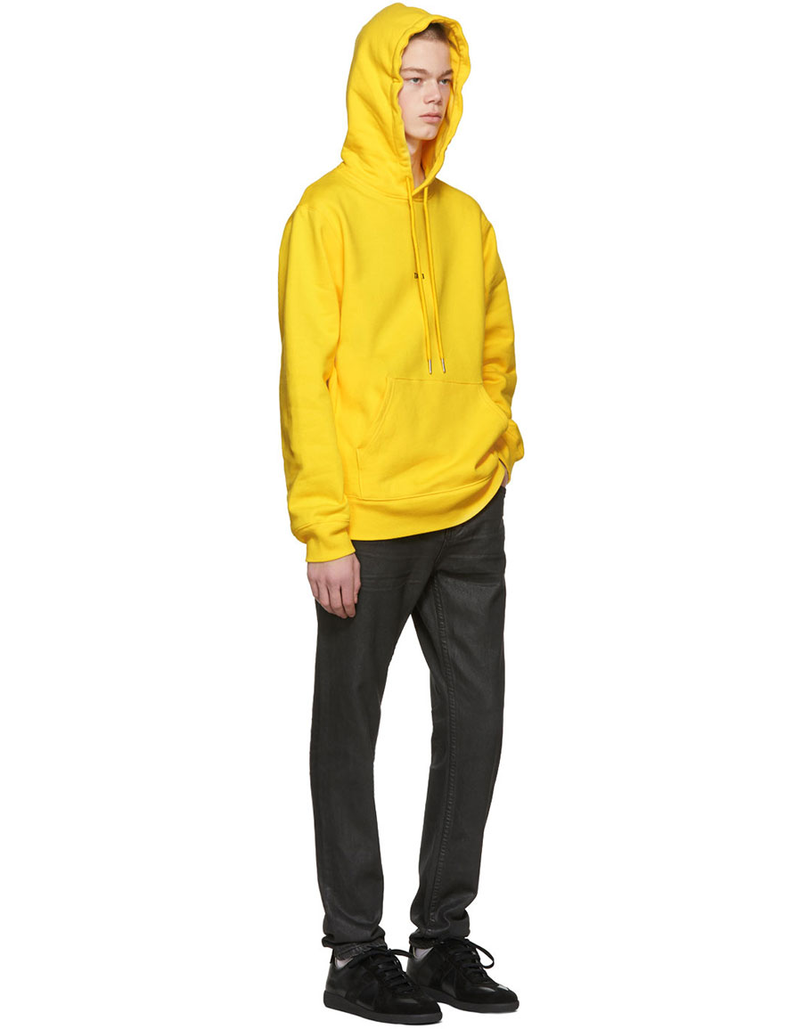HELMUT LANG Yellow 'Taxi' Hoodie
