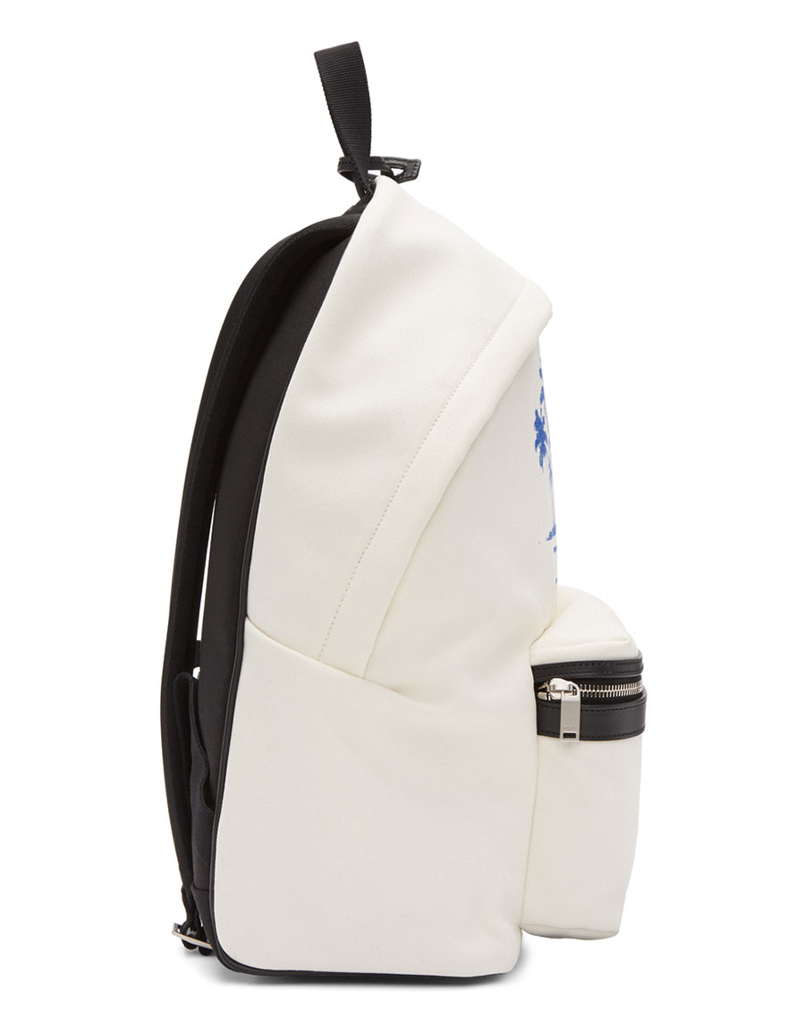 SAINT LAURENT White Sunset Backpack