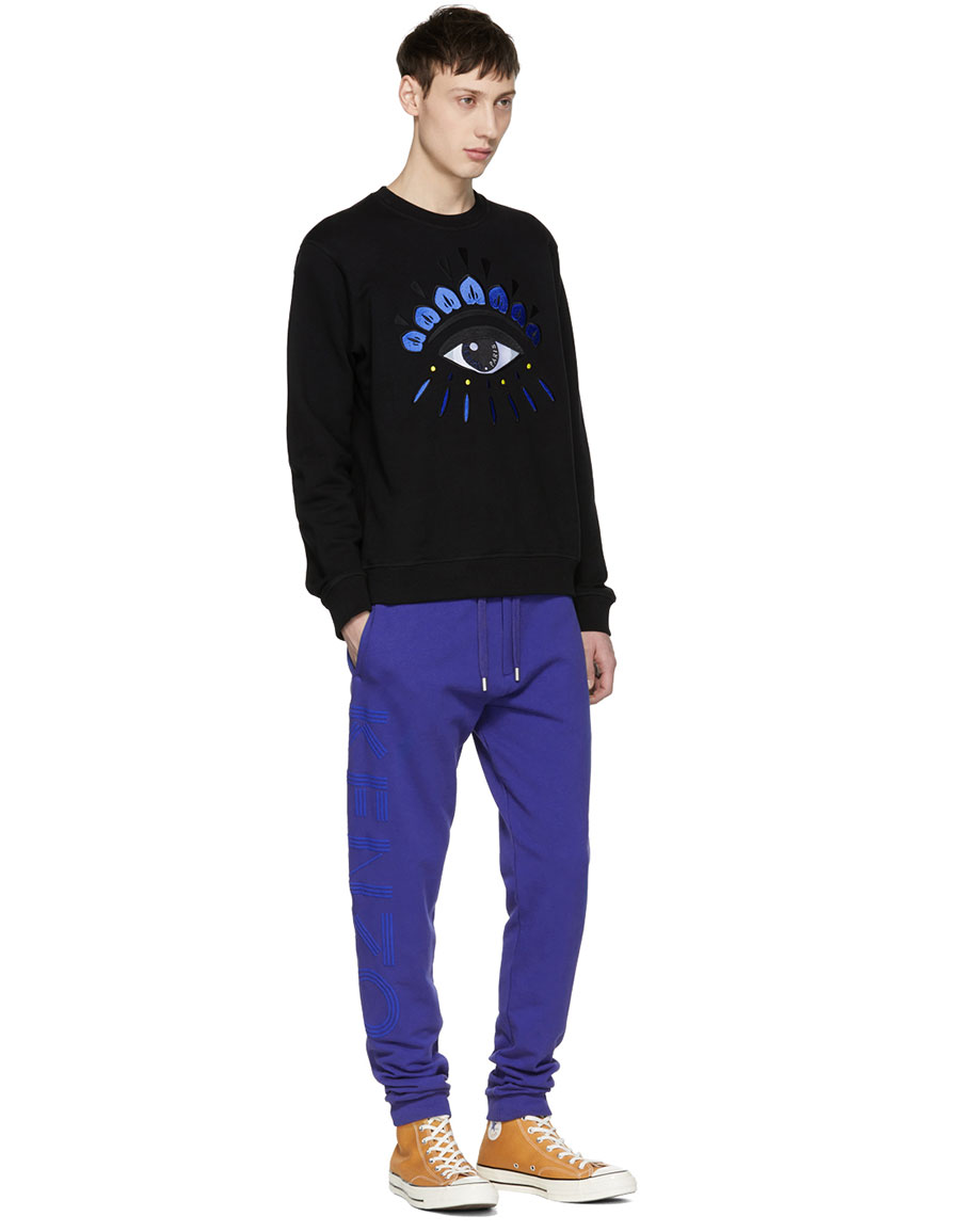 KENZO Blue Logo Lounge Pants