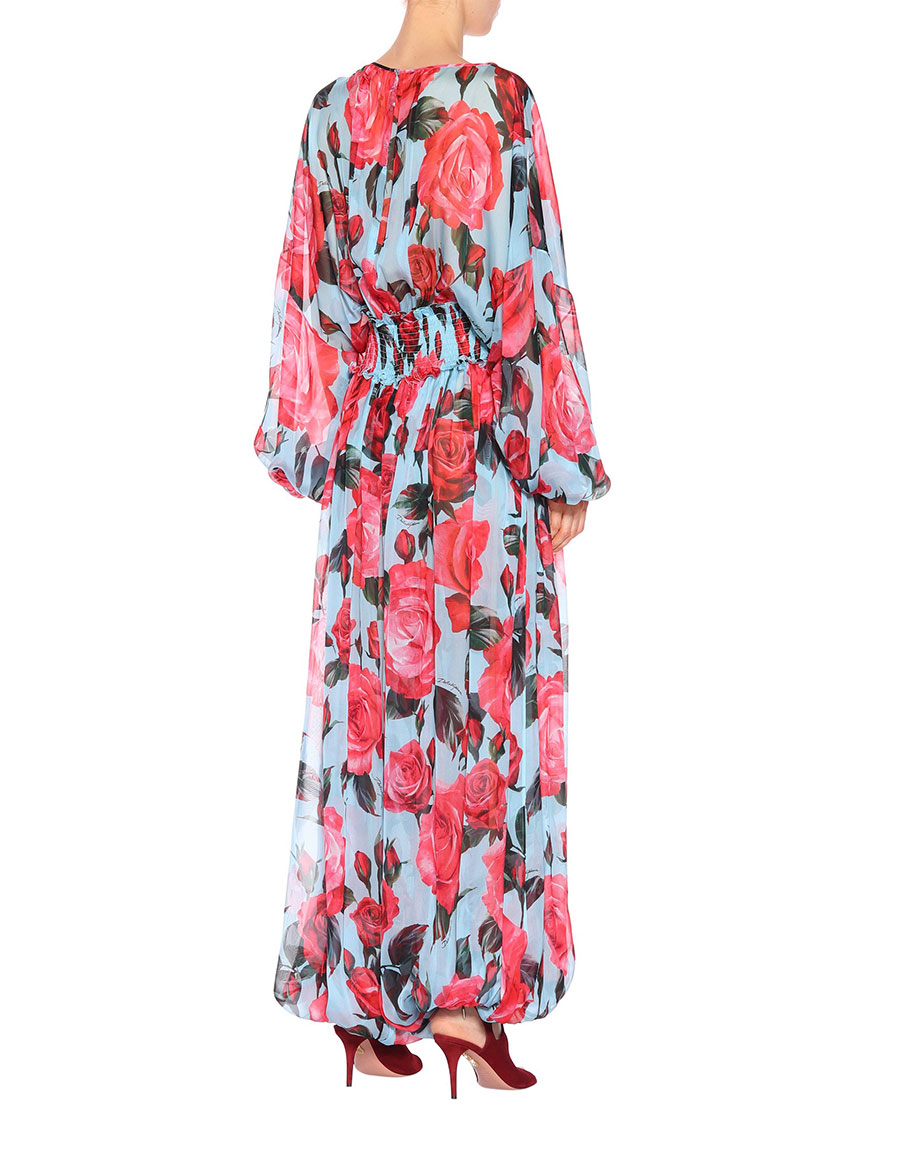DOLCE & GABBANA Floral silk chiffon jumpsuit