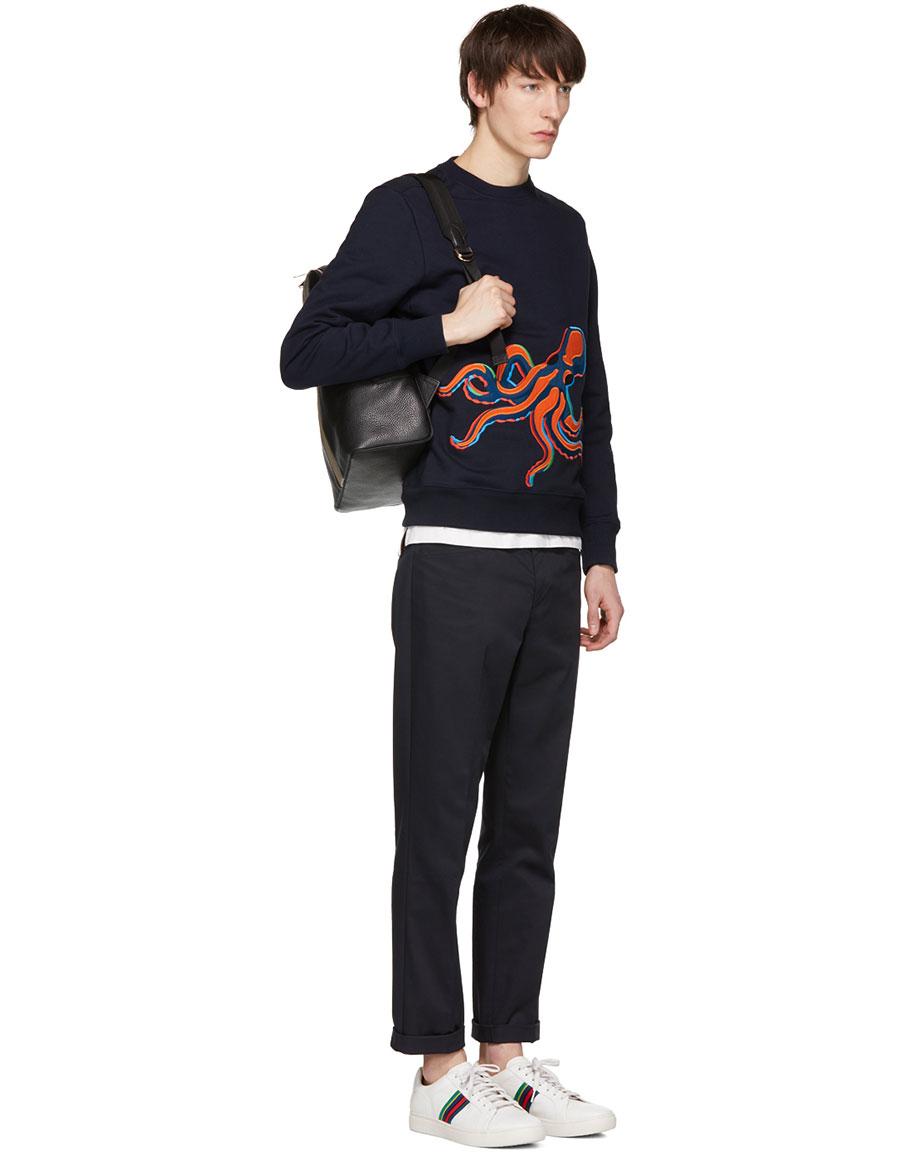 PAUL SMITH Navy Octopus Sweatshirt