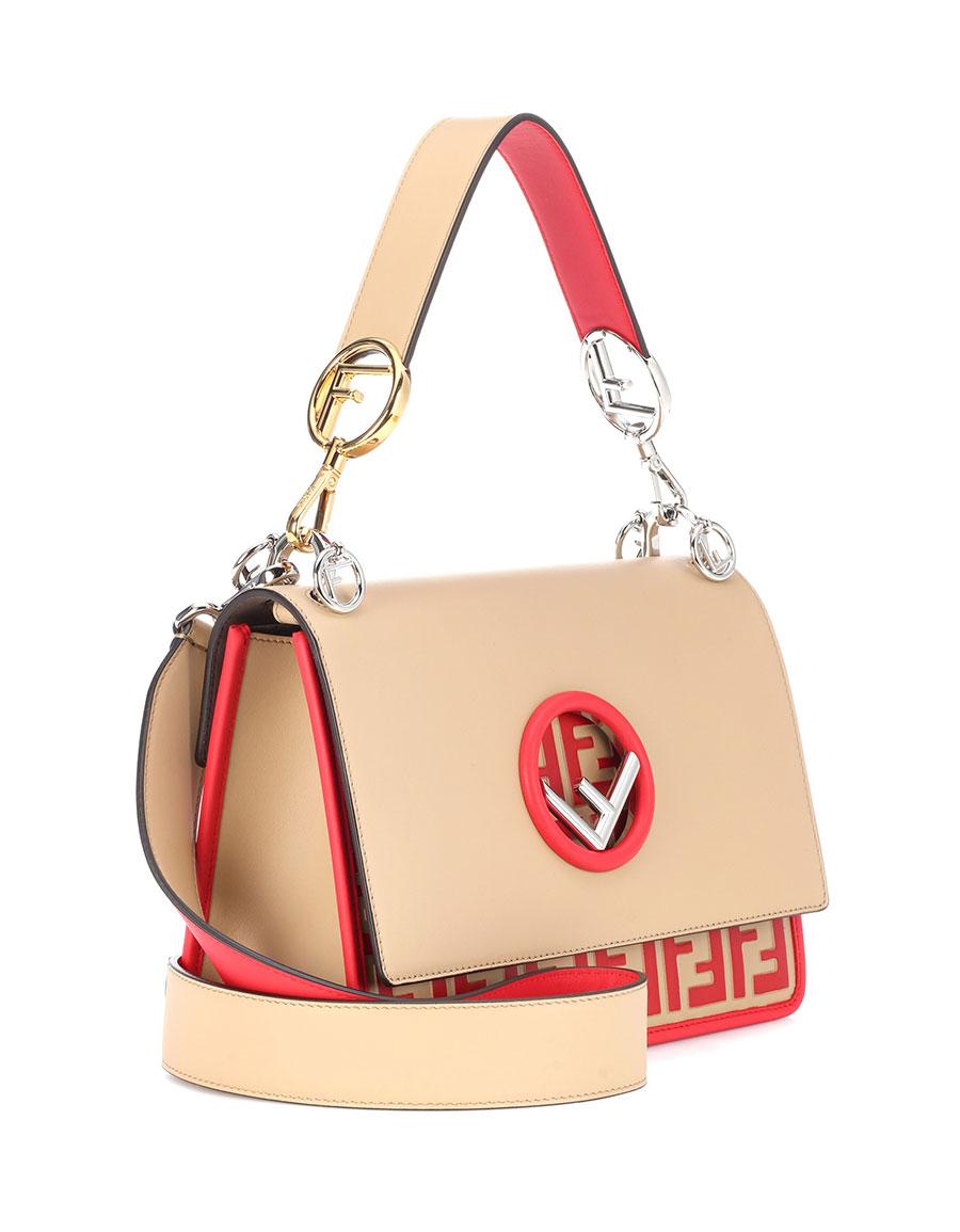 FENDI Kan I F leather shoulder bag