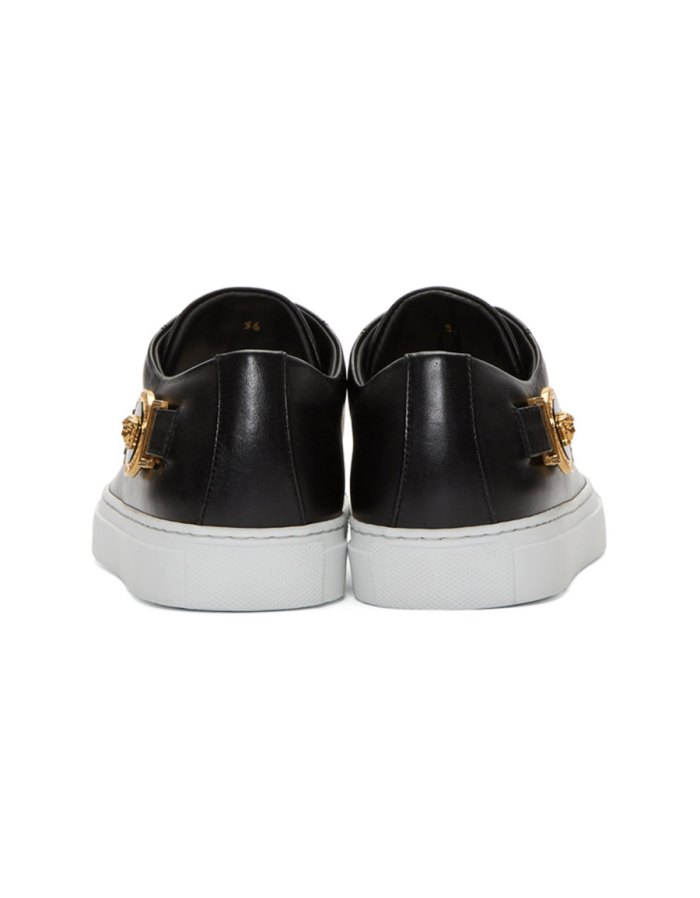 VERSACE Black Tribute Logo Sneakers