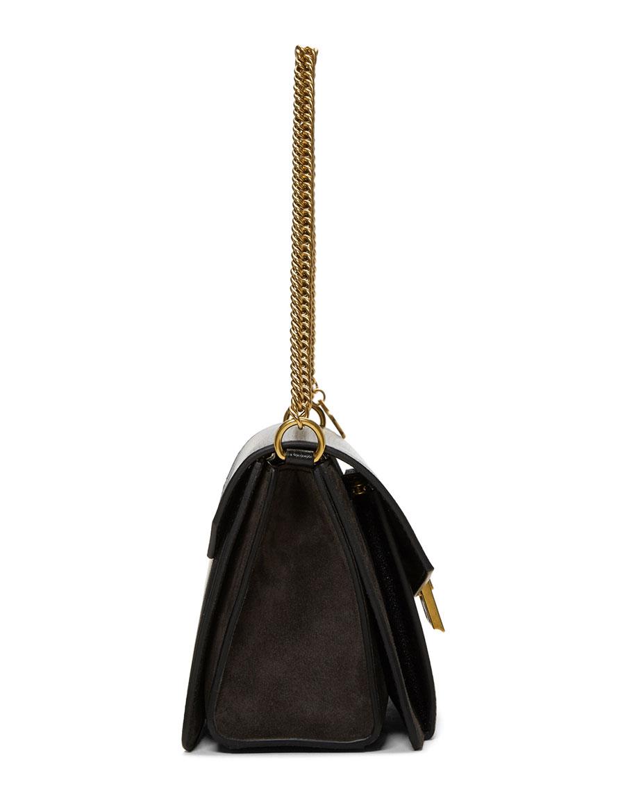 GIVENCHY Black & Grey Small GV3 Bag
