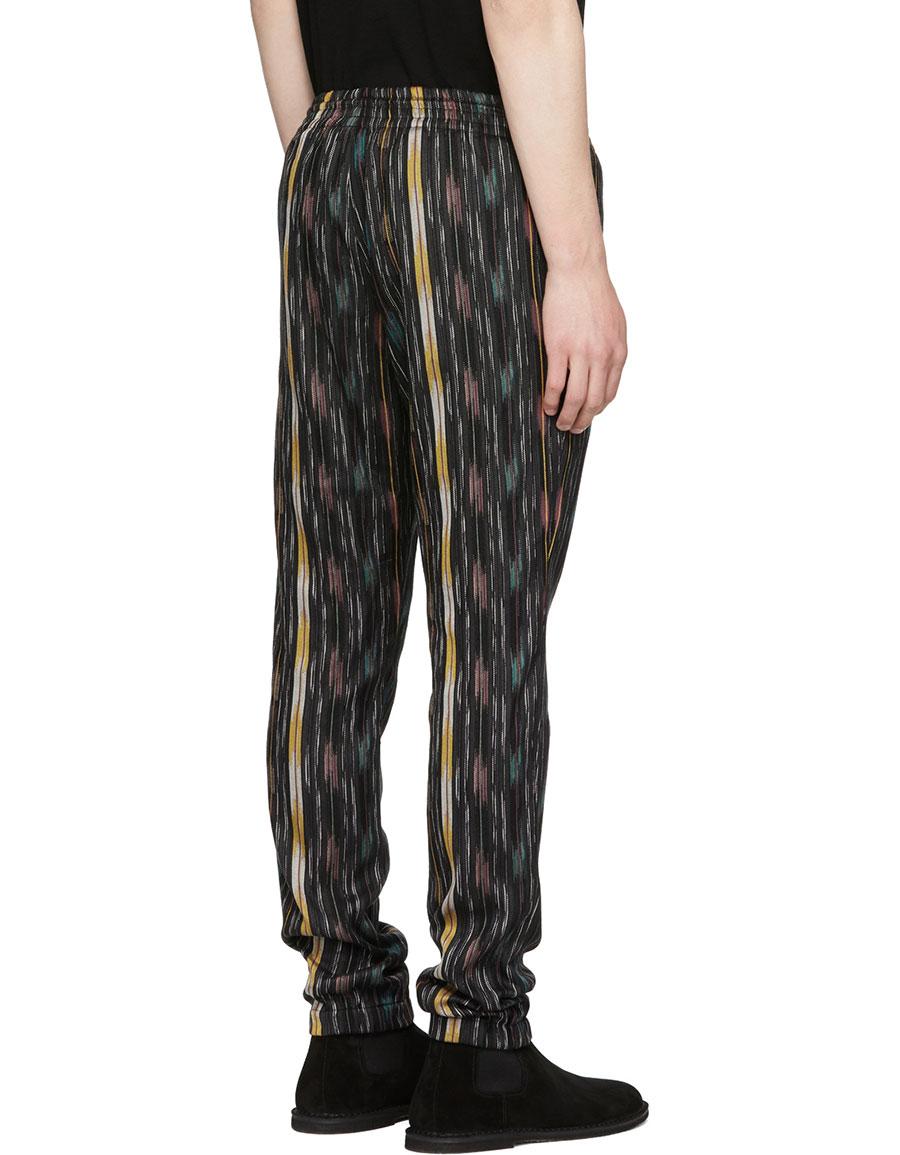 SAINT LAURENT Multicolor Striped Ikat Trousers