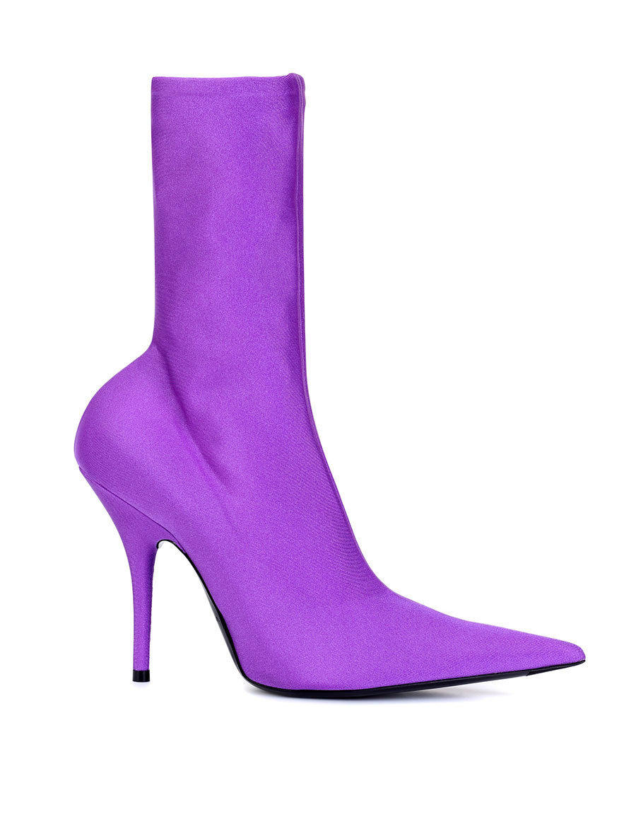 BALENCIAGA Knife stretch jersey ankle boots