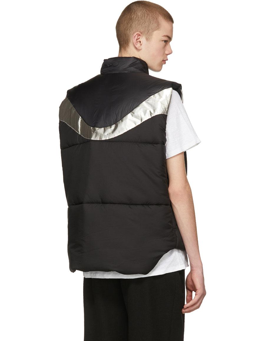 ISABEL MARANT Black & Silver Dream Puffer Vest