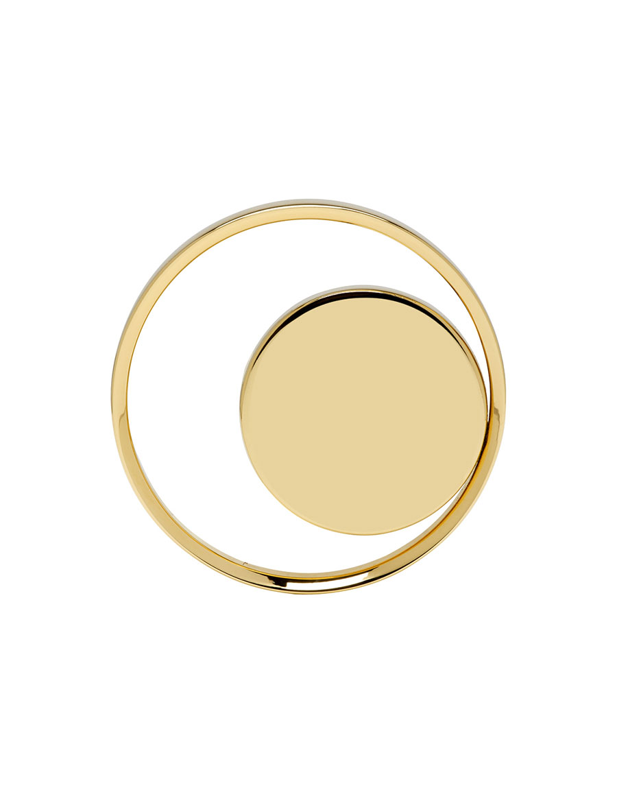 LANVIN Gold Hoop & Disc Ring
