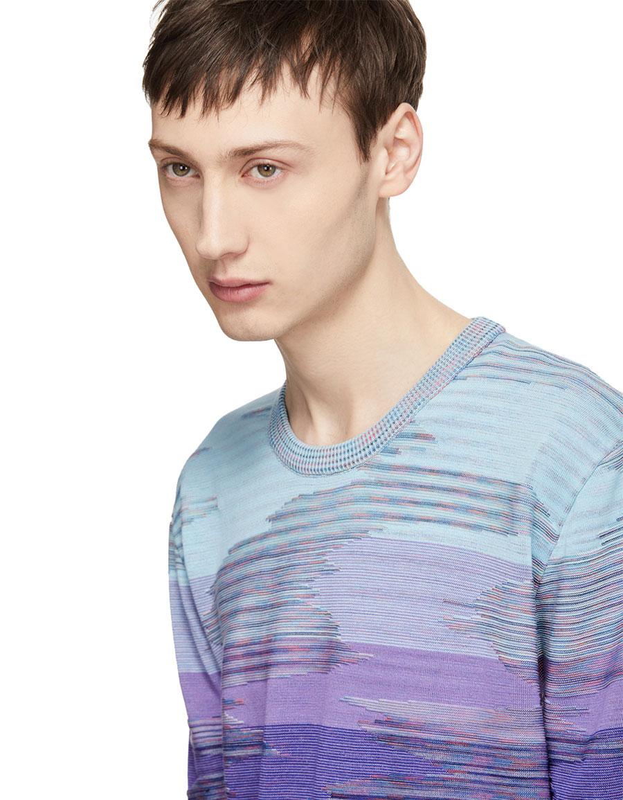 MISSONI Blue 3D Effect T Shirt