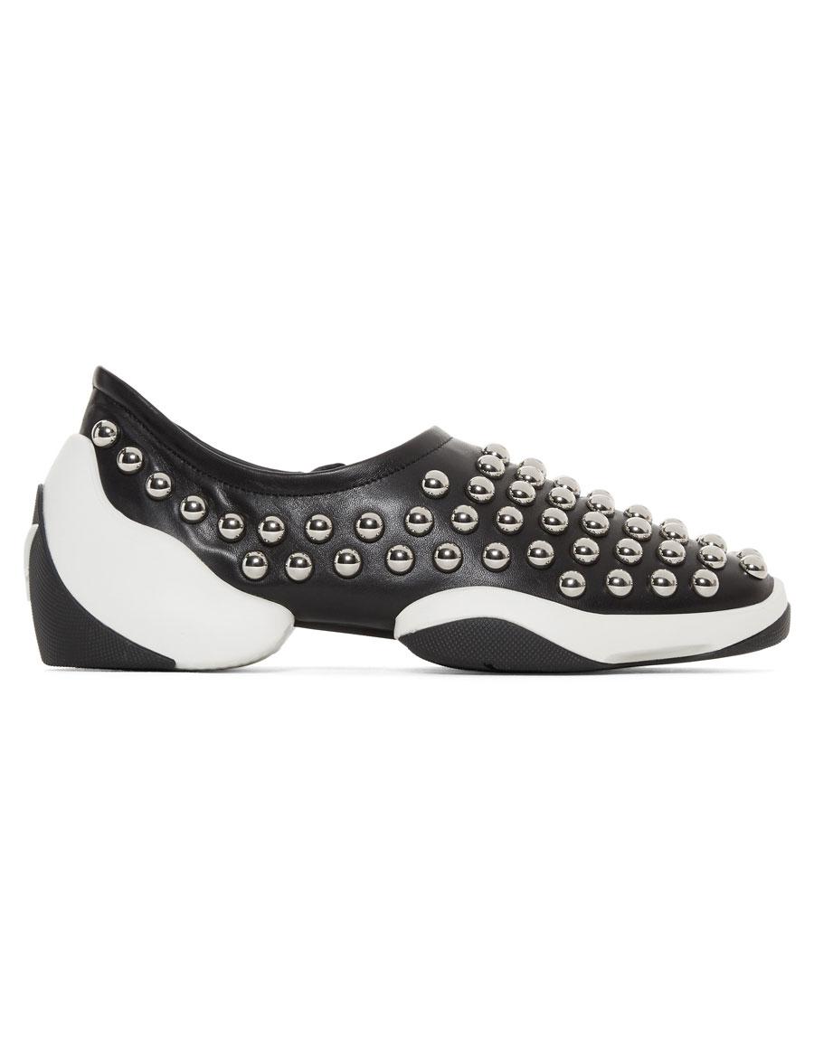 cf97c230717c5 GIUSEPPE ZANOTTI Black Studded Light Jump Sneakers · VERGLE