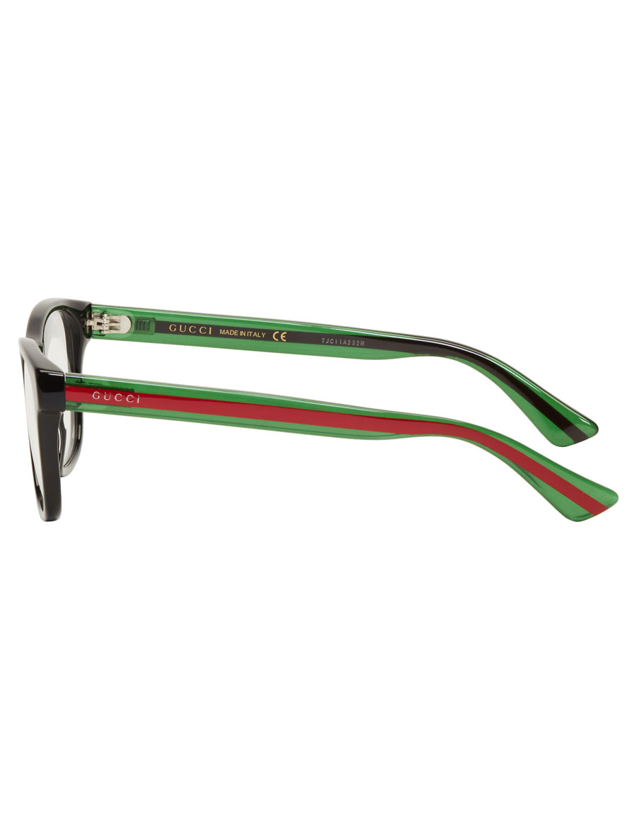 GUCCI Black Stripe Glasses