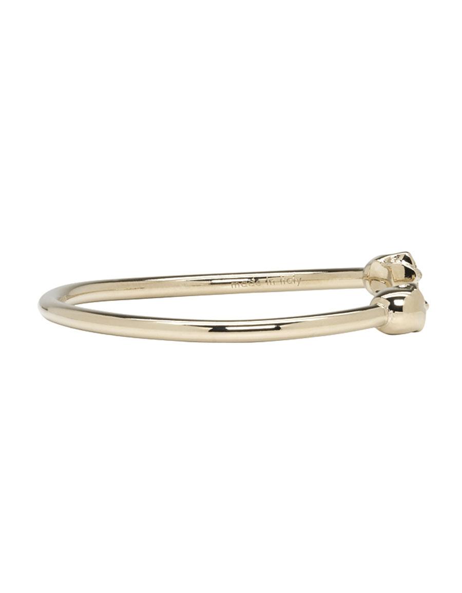 ALEXANDER MCQUEEN Gold Thin Twin Skull Bracelet