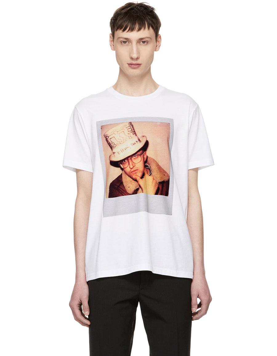 COACH 1941 White Keith Haring Edition Polaroid T Shirt