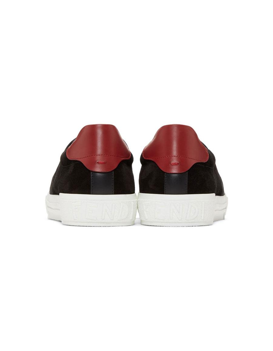 13002a4d FENDI Black 'Bag Bugs' Slip-On Sneakers · VERGLE